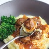 Salisbury Meatballs and Mashed Potatoes