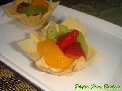 Phyllo Fruit Tarts - Maya Kitchenette