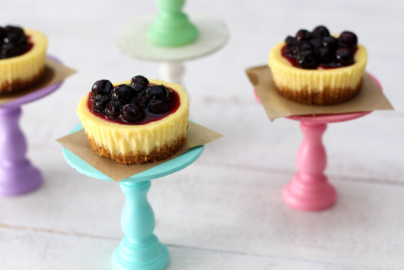 ... realized that I am just talking about these Mini Blueberry Cheesecake
