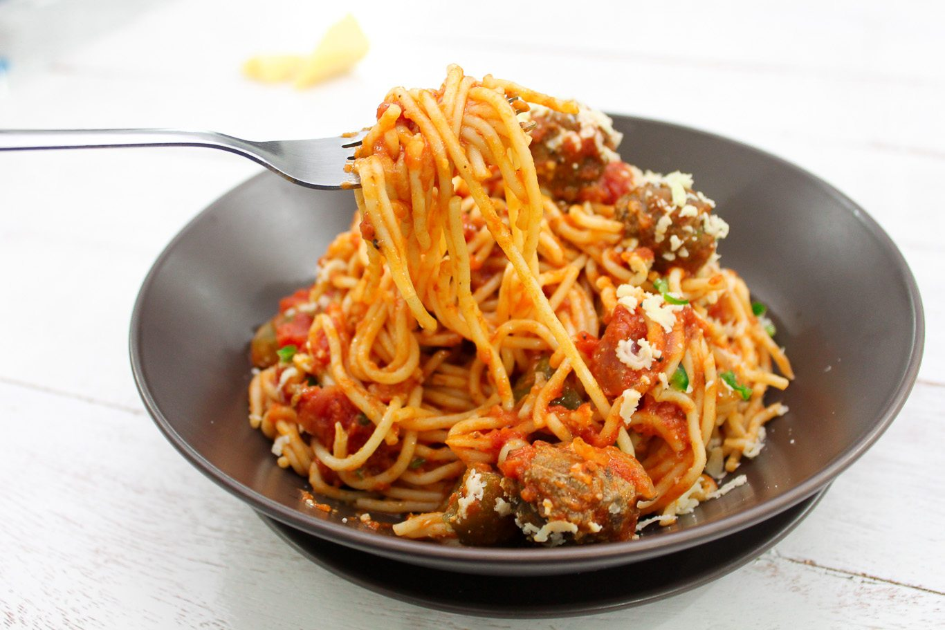 Better than Pastamania Spaghetti Bolognese with Meatballs