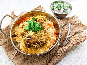 delicious lamb biryani