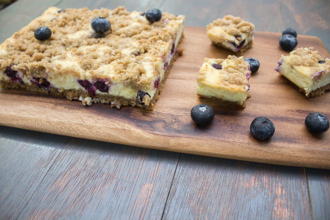 Blueberry Cheesecake Squares - Maya Kitchenette