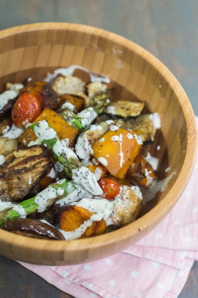 Warm roasted vegetable