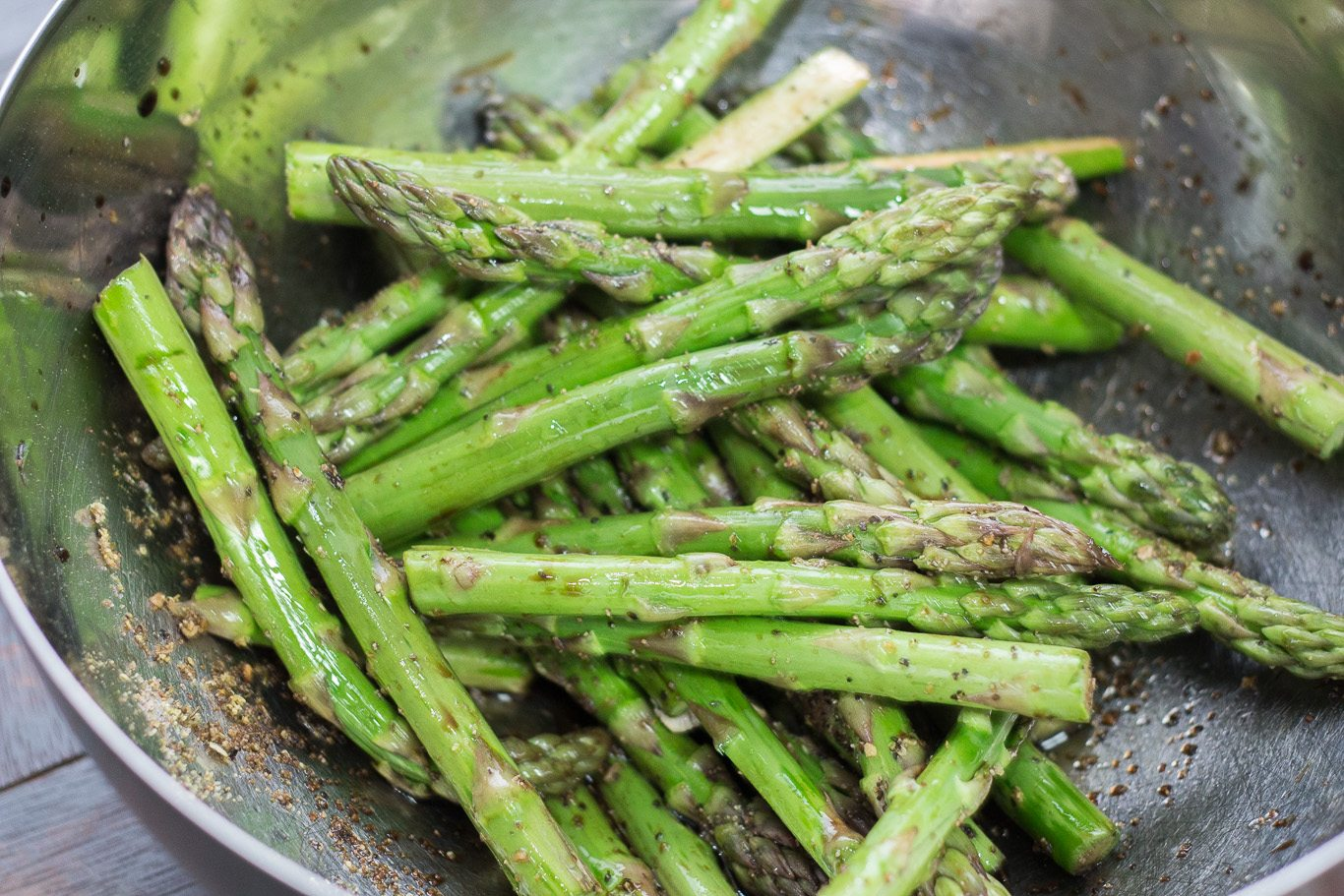 Roasted Asparagus in Balsamic Butter Vinaigrette - Maya Kitchenette
