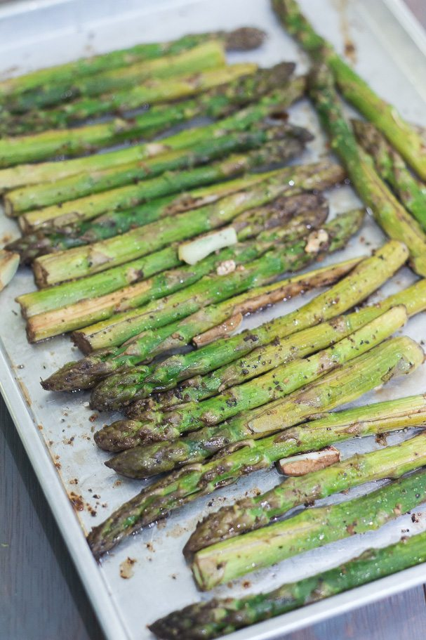 Roasted Asparagus in Balsamic Butter Vinaigrette - Maya Kitchenette