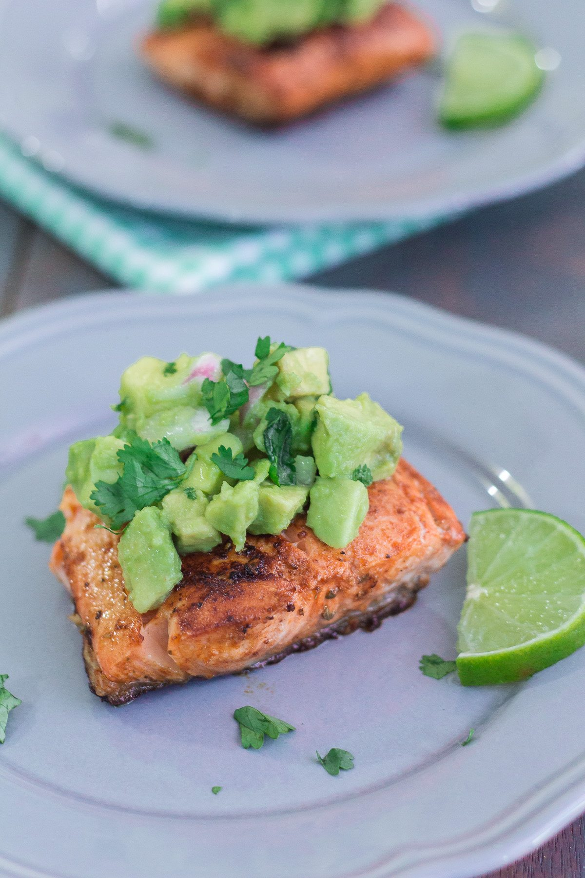 Honey Garlic Salmon with Warm Chopped Asparagus Salad - Maya ...