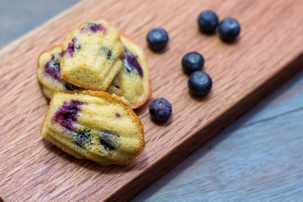 Lemon and Blueberry Madeleines