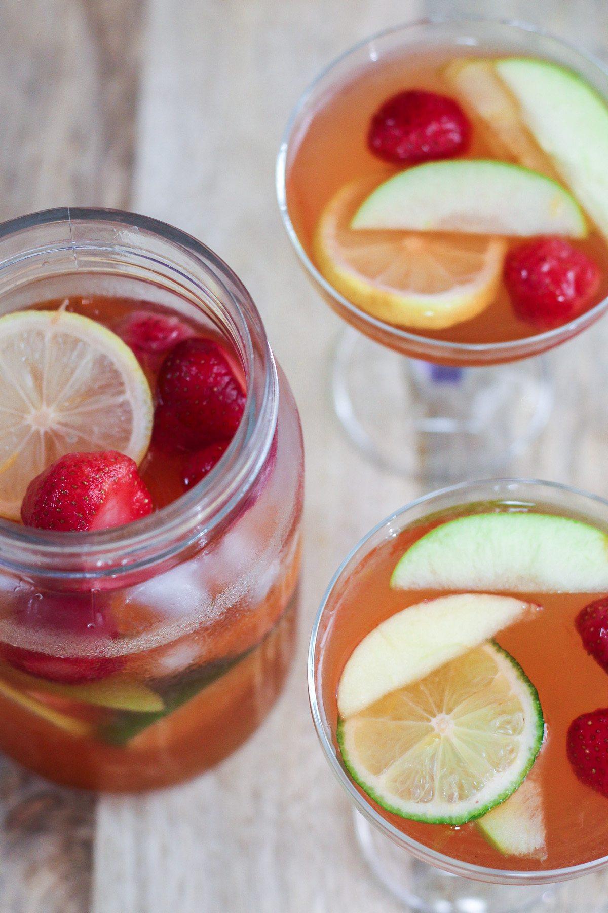 Delicious Non Alcoholic Sangria - Maya Kitchenette