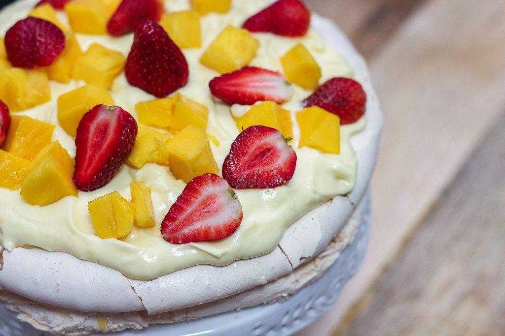 Pavlova With Lemon Curd Cream - Maya Kitchenette