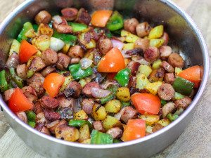 One Pan Sausage and Potato Hash