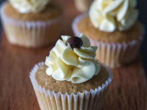 Espresso Cupcakes with Swiss Meringue Buttercream Frosting