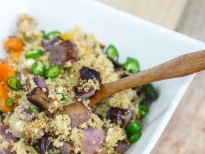 Lemon Couscous with Grilled Vegetable Salad