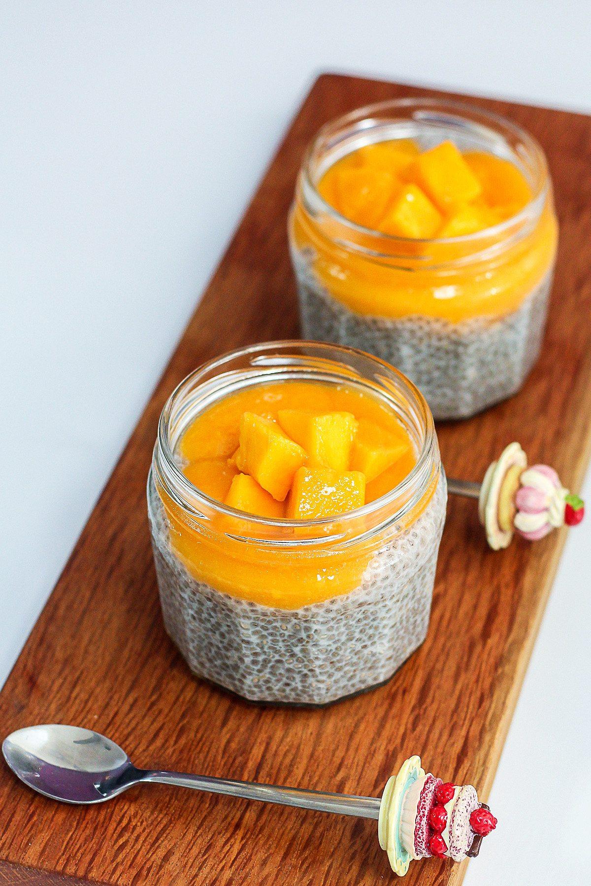 Delicious Mango and Coconut Chia Pudding