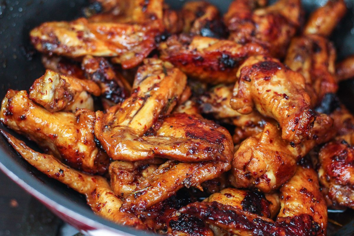 chicken wings Deep-fried, baked, buffalo, or teriyaki — whichever way you like them, chicken  wings are the ultimate game-day food.