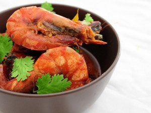Tomato-chilli-prawns