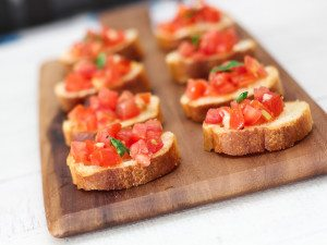 Easy Tomato Bruschette