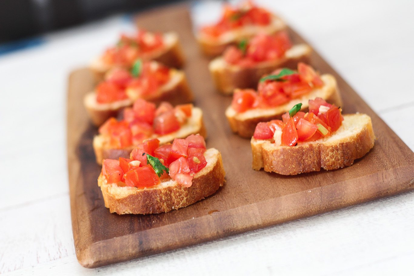 Easy Tomato Bruschetta - Maya Kitchenette
