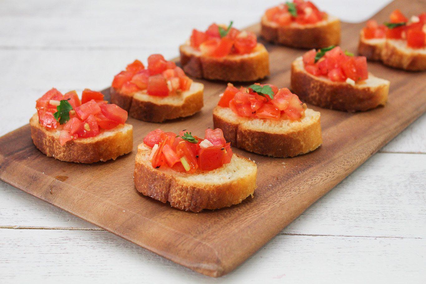 Easy Tomato Bruschette