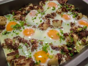 Corned Beef Potatoes and Eggs
