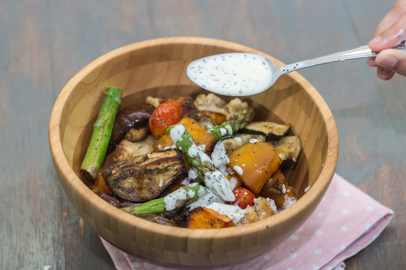 Warm Roasted Vegetable Salad