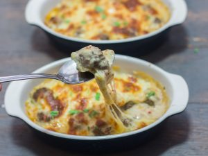 Baked Meatballs in Creamy Sauce