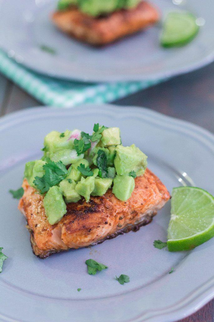 Best Salmon with Avocado Salsa
