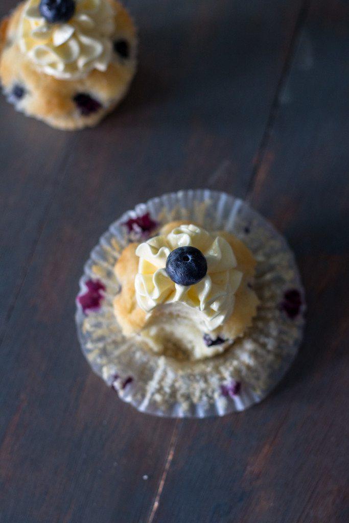 Lemon Blueberry Cupcakes with Swiss Meringue Buttercream