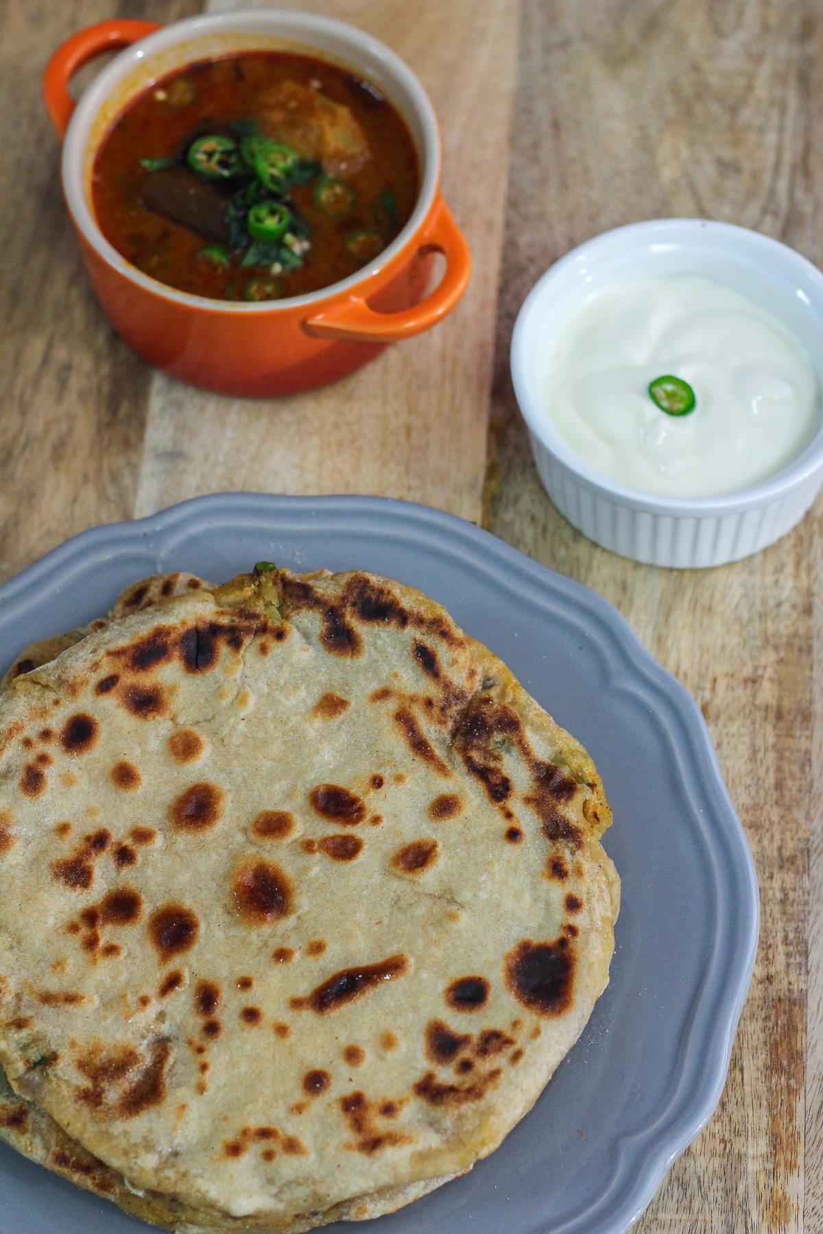 Simple Aloo Paratha Recipe Maya Kitchenette