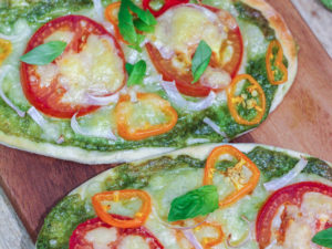 Delicious Pesto Naan Pizza