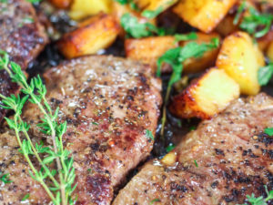 Garlic Butter Steak and Potatoes