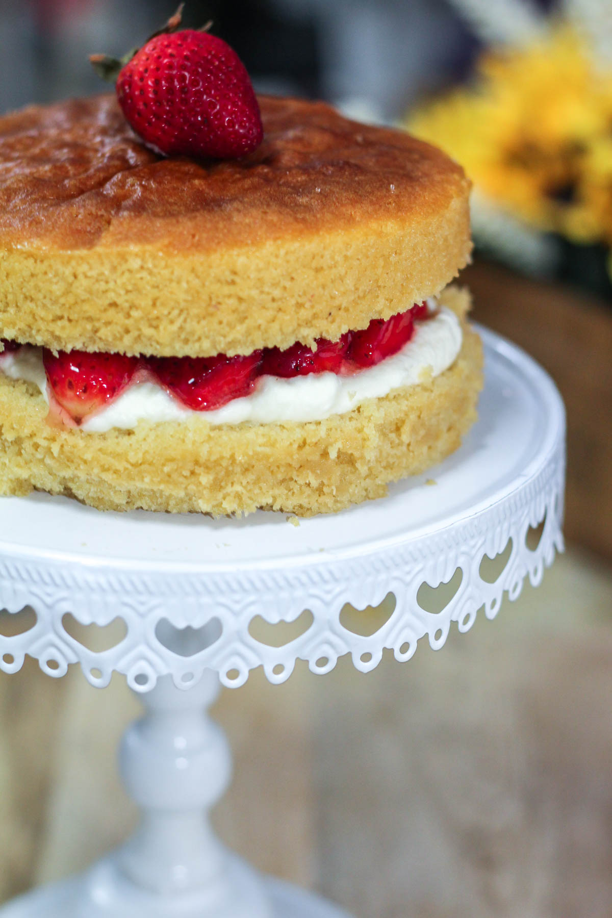 Low Sugar Victoria Sponge Cake Recipe
